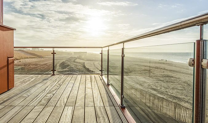 RVS balustrade met glasvulling - RVS Land